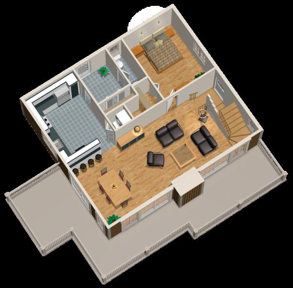 Cabin Floor Plan - Main Floor Plan Plan #25-4587