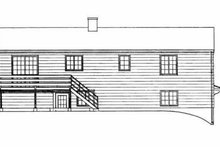Colonial Exterior - Rear Elevation Plan #72-344