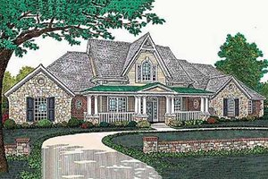 European Exterior - Front Elevation Plan #310-503