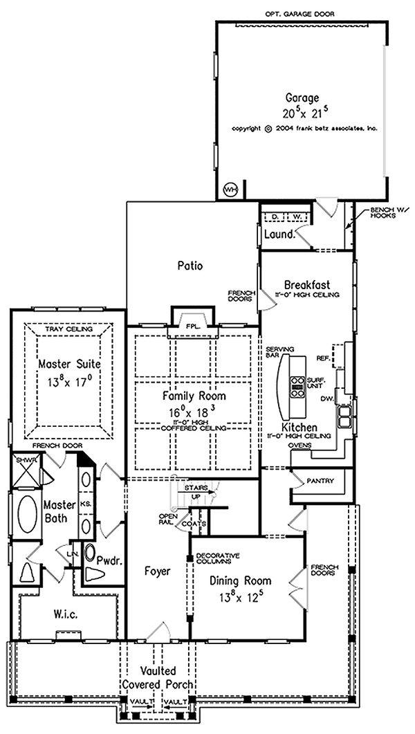 Farmhouse Floor Plan - Main Floor Plan Plan #927-40