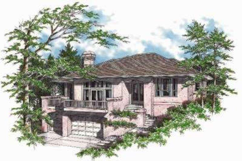 Dream House Plan - Mediterranean Exterior - Front Elevation Plan #48-128