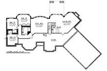 Ranch Floor Plan - Lower Floor Plan Plan #70-1472