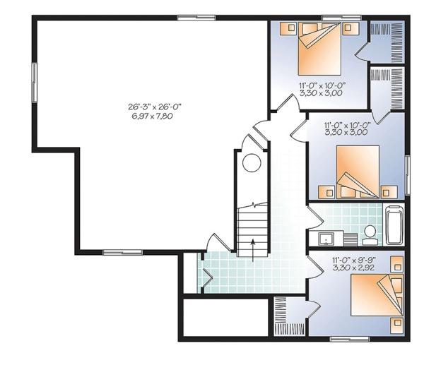 House Plan Design - Ranch Floor Plan - Lower Floor Plan #23-2614