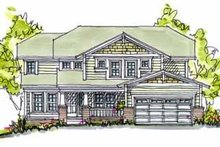 Cottage Exterior - Front Elevation Plan #20-988