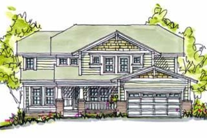 Cottage Exterior - Front Elevation Plan #20-988