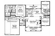 Southern Style House Plan - 3 Beds 2 Baths 1500 Sq/Ft Plan #21-146 Floor Plan - Main Floor Plan
