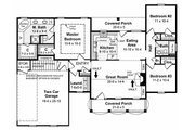 Southern Style House Plan - 3 Beds 2 Baths 1500 Sq/Ft Plan #21-146 Floor Plan - Main Floor