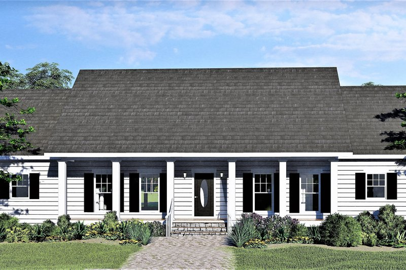House Plan Design - Southern Exterior - Front Elevation Plan #44-244