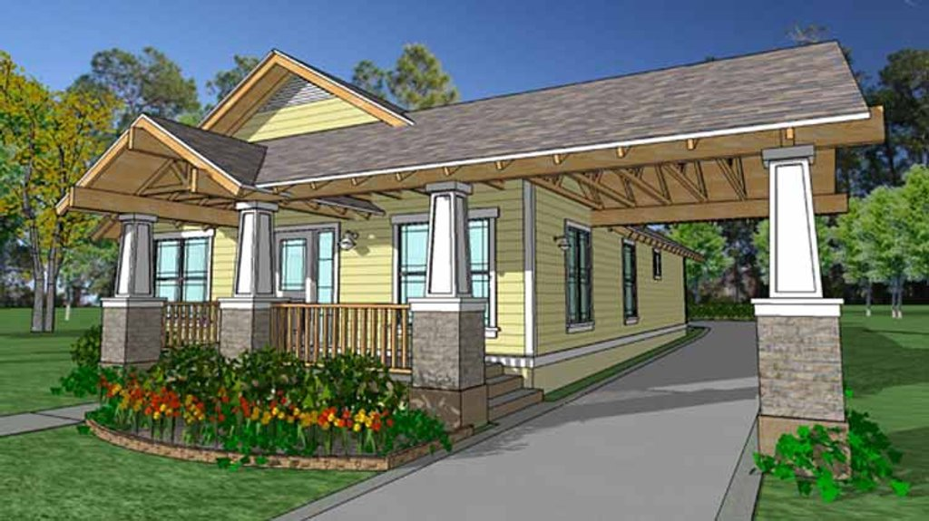 Craftsman style house plan 3 beds 2 baths 1320 sq ft for Weinmaster house plans
