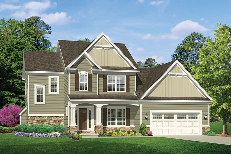 Architectural House Design - Traditional Exterior - Front Elevation Plan #1010-118