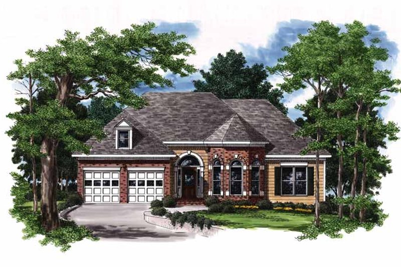 Home Plan - European Exterior - Front Elevation Plan #927-378