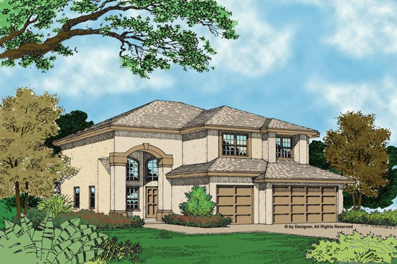 Mediterranean Exterior - Front Elevation Plan #417-484