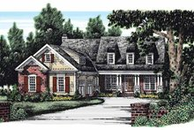 Country Exterior - Front Elevation Plan #927-267