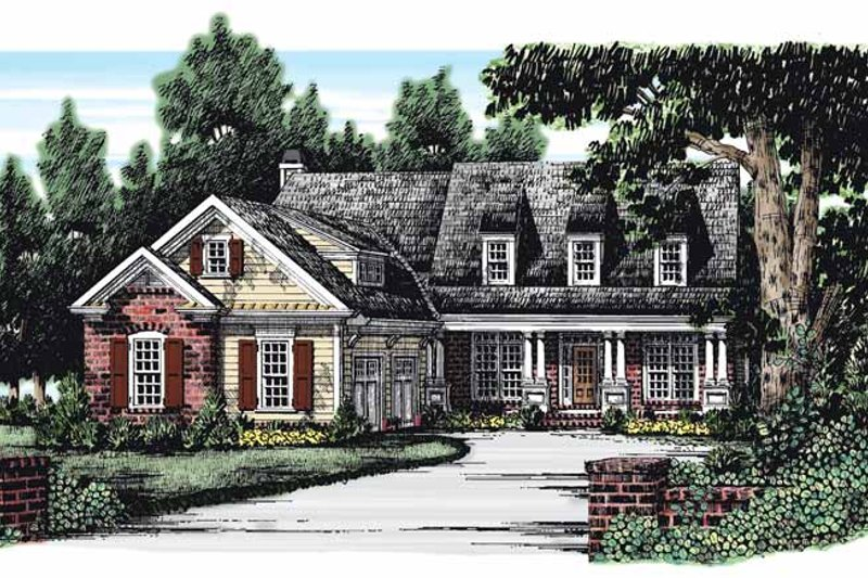 House Plan Design - Country Exterior - Front Elevation Plan #927-267