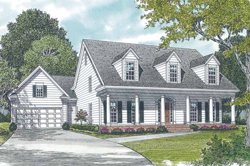 Dream House Plan - Classical Exterior - Front Elevation Plan #453-272