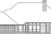 European Style House Plan - 4 Beds 3 Baths 2894 Sq/Ft Plan #84-199 Exterior - Rear Elevation