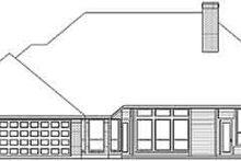 European Exterior - Rear Elevation Plan #84-199
