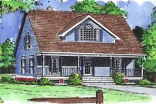 Country Exterior - Front Elevation Plan #320-843