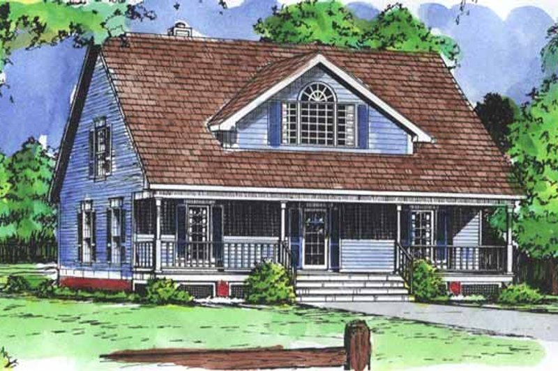 Country Exterior - Front Elevation Plan #320-843 - Houseplans.com