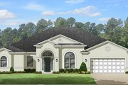 European Style House Plan - 4 Beds 3 Baths 3068 Sq/Ft Plan #1058-130 Exterior - Front Elevation