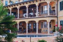 House Plan Design - Mediterranean Exterior - Rear Elevation Plan #453-617
