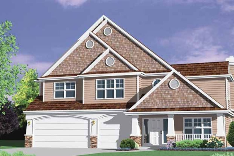 Traditional Exterior - Front Elevation Plan #509-369