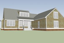 Colonial Exterior - Rear Elevation Plan #991-26