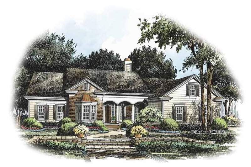 Country Exterior - Front Elevation Plan #429-238 - Houseplans.com
