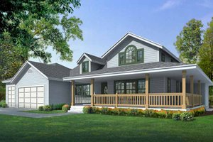 Architectural House Design - Traditional Exterior - Front Elevation Plan #1037-38