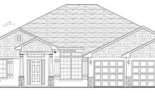 Home Plan - Craftsman Exterior - Front Elevation Plan #1058-51