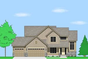 Prairie Exterior - Front Elevation Plan #981-15