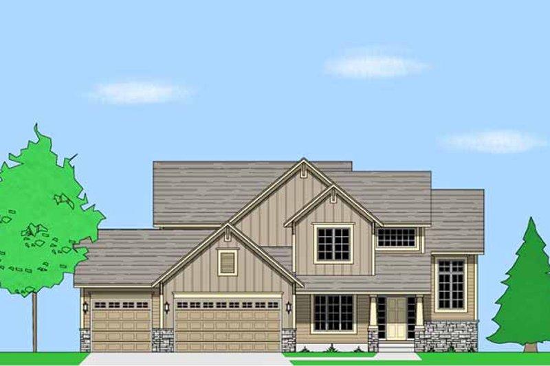 House Plan Design - Prairie Exterior - Front Elevation Plan #981-15