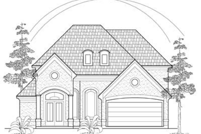 European Exterior - Front Elevation Plan #61-115