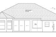 Mediterranean Style House Plan - 3 Beds 2 Baths 2161 Sq/Ft Plan #1058-41 Exterior - Rear Elevation