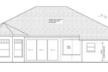 Home Plan - Mediterranean Exterior - Rear Elevation Plan #1058-41