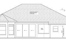 Architectural House Design - Mediterranean Exterior - Rear Elevation Plan #1058-41
