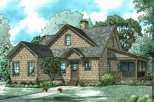 Country Exterior - Front Elevation Plan #17-2534