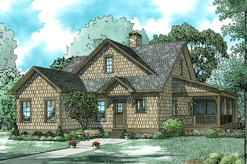 Country Exterior - Front Elevation Plan #17-2534 - Houseplans.com