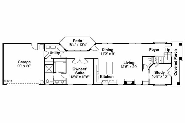 Floor Plan - Main Floor Plan Plan #124-908