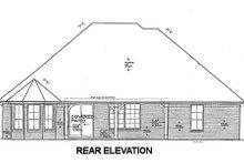 Dream House Plan - European Exterior - Rear Elevation Plan #310-672