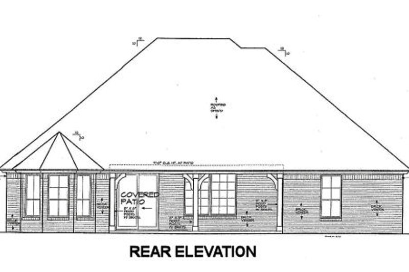 European Exterior - Rear Elevation Plan #310-672 - Houseplans.com