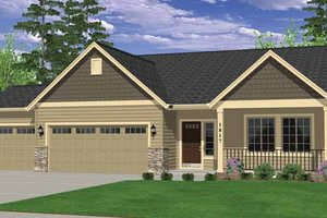 Home Plan - Ranch Exterior - Front Elevation Plan #943-21