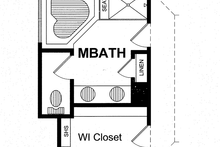 Colonial Interior - Master Bathroom Plan #316-278