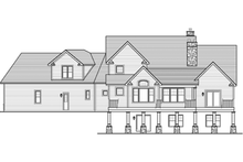 Colonial Exterior - Rear Elevation Plan #1010-40