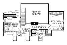 Colonial Floor Plan - Upper Floor Plan Plan #137-373