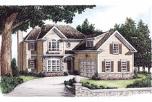 Colonial Exterior - Front Elevation Plan #927-607