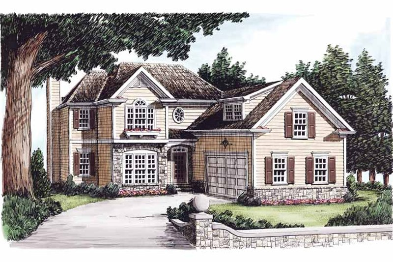 Dream House Plan - Colonial Exterior - Front Elevation Plan #927-607
