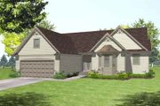 Colonial Style House Plan - 3 Beds 2 Baths 1752 Sq/Ft Plan #50-254 Exterior - Front Elevation