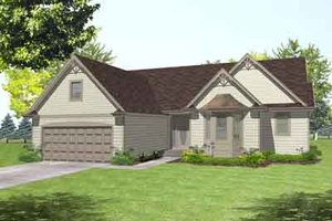 Colonial Exterior - Front Elevation Plan #50-254