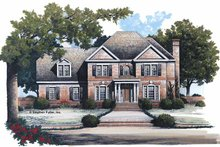Home Plan - Colonial Exterior - Front Elevation Plan #429-110
